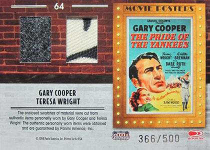 Hobby Gone Hollywood: Baseball Cards of Baseball Movies 42