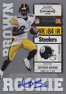 2010 Playoff Contenders Antonio Brown RC