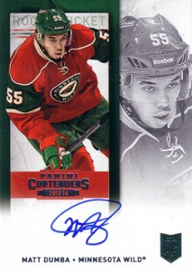 2013-14 Panini Contenders Hockey Rookie Ticket Autograph Variations Guide 30