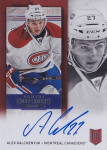 2013-14 Panini Contenders Hockey Rookie Ticket Autograph 265 Alex Galchenyuk