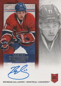 2013-14 Panini Contenders Hockey Rookie Ticket Autograph 266 Brendan Gallagher
