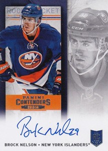 2013-14 Panini Contenders Hockey Rookie Ticket Autograph Variation 229 Brock Nelson