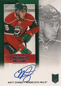 2013-14 Panini Contenders Hockey Rookie Ticket Autograph Variations Guide 31
