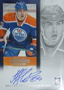 2013-14 Panini Contenders Hockey Rookie Ticket Autograph Variations Guide 66