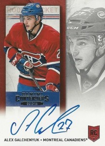 2013-14 Panini Contenders Hockey Rookie Ticket Autograph Variations Alex Galchenyuk