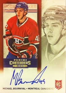 2013-14 Panini Contenders Hockey Rookie Ticket Autograph Variations Guide 76