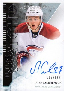 2013-14 SP Authentic 277 Alex Galchenyuk