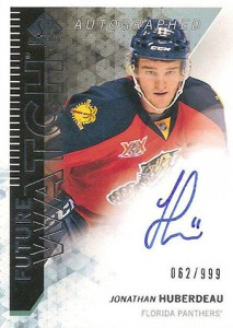 2013-14 SP Authentic 279 Jonathan Huberdeau