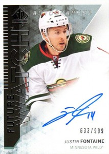 2013-14 SP Authentic 281 Justin Fontaine