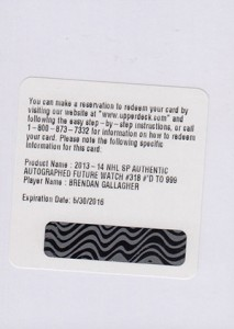 See All the 2013-14 SP Authentic Hockey Future Watch Rookie Autographs 59