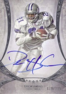 2013 Topps Five Star Autographs Deion Sanders