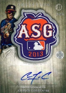 2014 Bowman Inception Baseball Autograph ASG Futures Game Patch Correa