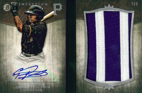 2014 Bowman Inception Baseball Autograph Letter Patch Book