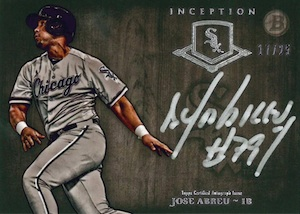 2014 Bowman Inception Baseball Silver Signings Jose Abreu