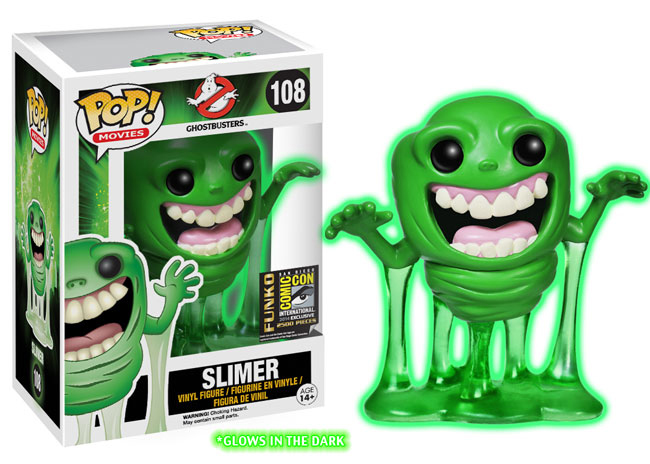 2014 Funko Pop Ghostbusters Glow in the Dark Slimer SDCC