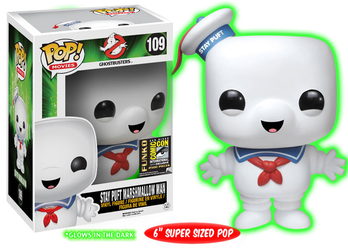 2014 Funko Pop Ghostbusters Glow in the Dark Stay Puft SDCC