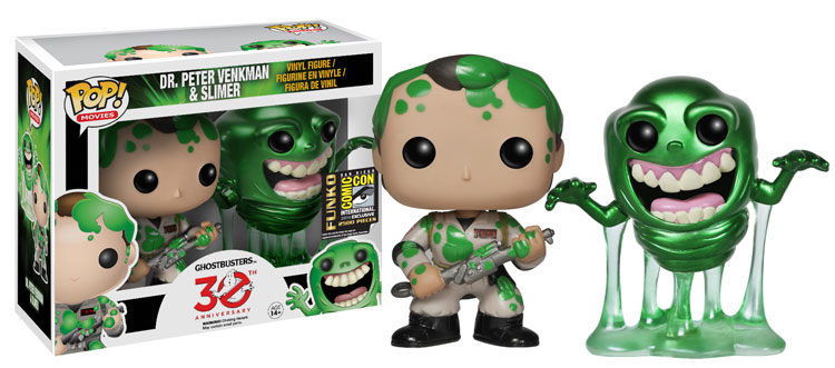 2014 Funko San Diego Comic-Con Exclusives - Pop Ghostbusters Metallic Peter and Slimer SDCC