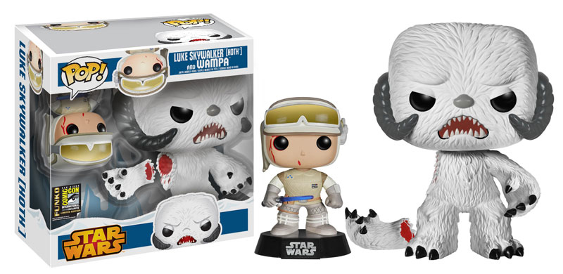 2014 Funko Pop Star Wars Luke Skywalker Hoth Wampa SDCC