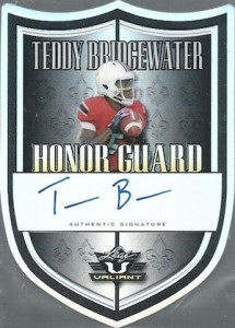 2014 Leaf Valiant Football Honor Guard Autographs Teddy Bridgewater