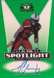 2014 Leaf Valiant Football In the Spotlight Autographs Jadeveon Clowney