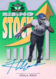 2014 Leaf Valiant Football Rising Stock Autographs Khalil Mack