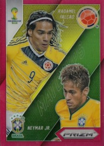 2014 Panini Prizm World Cup Matchups Neymar Falcao Red Prizm Parallel