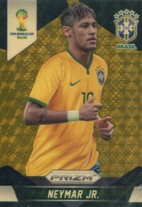 2014 Panini Prizm World Cup Neymar Gold Power