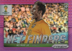 2014 Panini Prizm World Cup Neymar Net Finders Purple Prizm Parallel