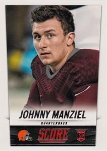 2014 Panini Score Johnny Manziel RC #387