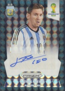 2014 Panini World Cup Lionel Messi Black Prizm Autograph