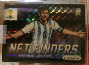 2014 Panini World Cup Lionel Messi Black Prizm Net Finders