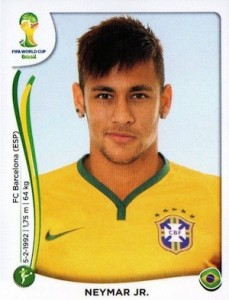 2014 Panini World Cup Stickers Neymar #48