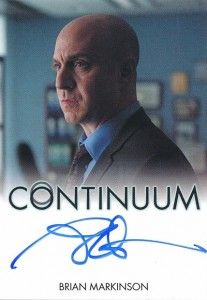 2014 Rittenhouse COntinuum Seasons 1 and 2 Autographs Brian Markinson