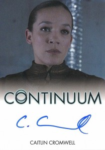 2014 Rittenhouse COntinuum Seasons 1 and 2 Autographs Caitlin Cromwell