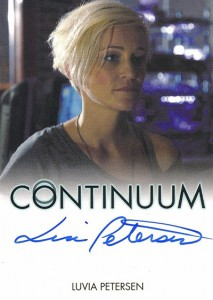 2014 Rittenhouse COntinuum Seasons 1 and 2 Autographs Luvia Petersen