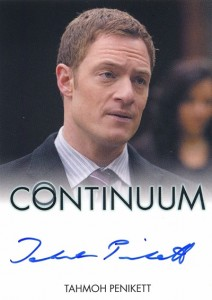 2014 Rittenhouse COntinuum Seasons 1 and 2 Autographs Tahmoh Penikett