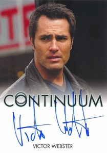 2014 Rittenhouse COntinuum Seasons 1 and 2 Autographs Victor Webster
