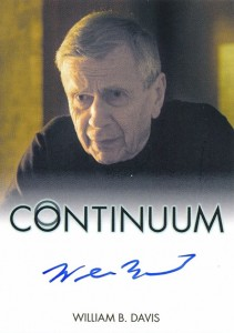2014 Rittenhouse COntinuum Seasons 1 and 2 Autographs William B Davis