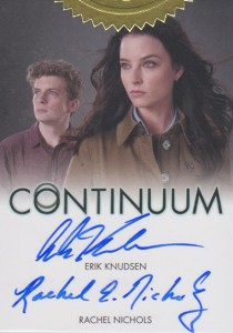 2014 Rittenhouse Continuum Seasons 1 and 2 Autographs Erik Knudsen Rachel Nichols