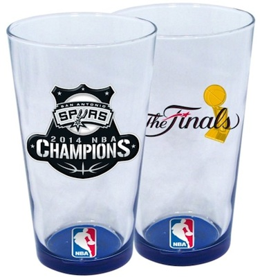 2014 San Antonio Spurs Champions Glasses