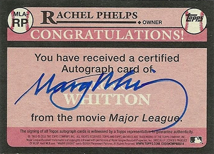 2014 Topps Archives Major League Autographs Rachel Phelps Back