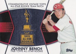 2014 Topps Series 2 Baseball All-Rookie Cup Patch Johnny Bench