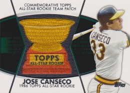 2014 Topps Series 2 Baseball All-Rookie Cup Patch Jose Canseco