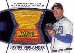 2014 Topps Series 2 Baseball All-Rookie Cup Patch Justin Verlander