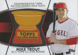 2014 Topps Series 2 Baseball All-Rookie Cup Patch Mike Trout