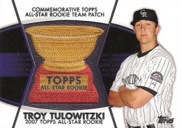 2014 Topps Series 2 Baseball All-Rookie Cup Patch Troy Tulowitzki