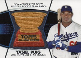 2014 Topps Series 2 Baseball All-Rookie Cup Patch Yasiel Puig