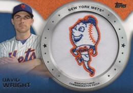 2014 Topps Series 2 Baseball Commemorative Patch CP-40 David Wright