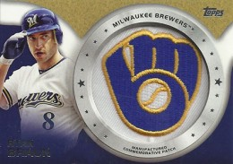 2014 Topps Series 2 Baseball Commemorative Patch CP-49 Ryan Braun