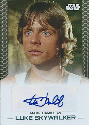 2014 Topps Star Wars Perspectives UK Autographs Mark Hamill